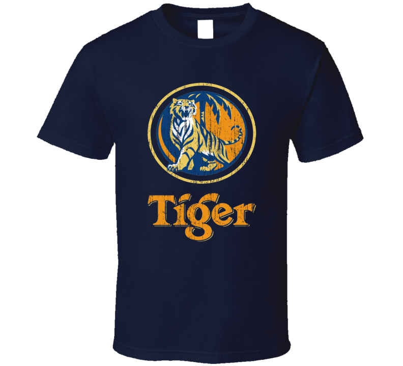 Tiger Imported Beer Distressed Image T Shirt