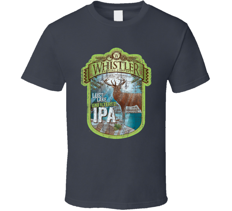Whistler Lost Lake Beer Distressed Image T Shirt