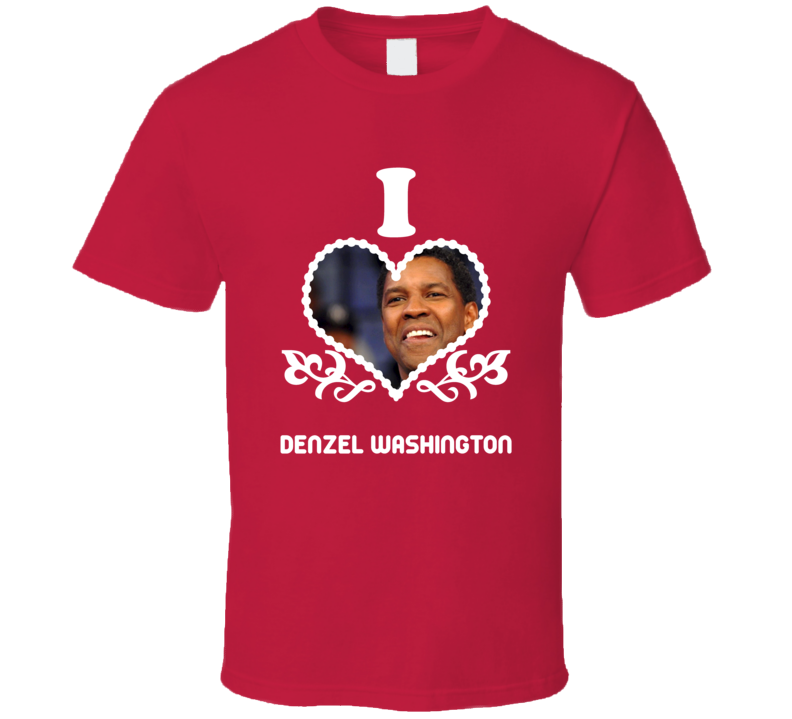 Denzel Washington I Heart Hot T Shirt