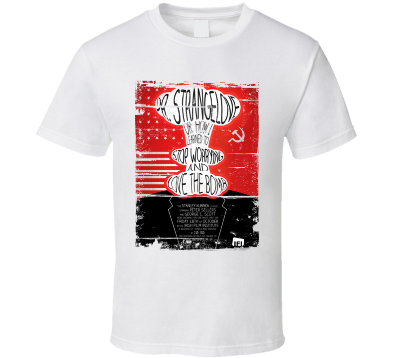 Dr Strangelove Classic Movie Poster Aged Look T Shirt