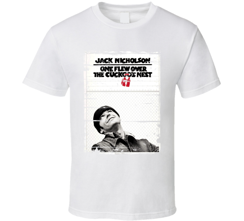 One Flew Over the Cuckoos Nest  Classic Movie Poster Aged Look T Shirt