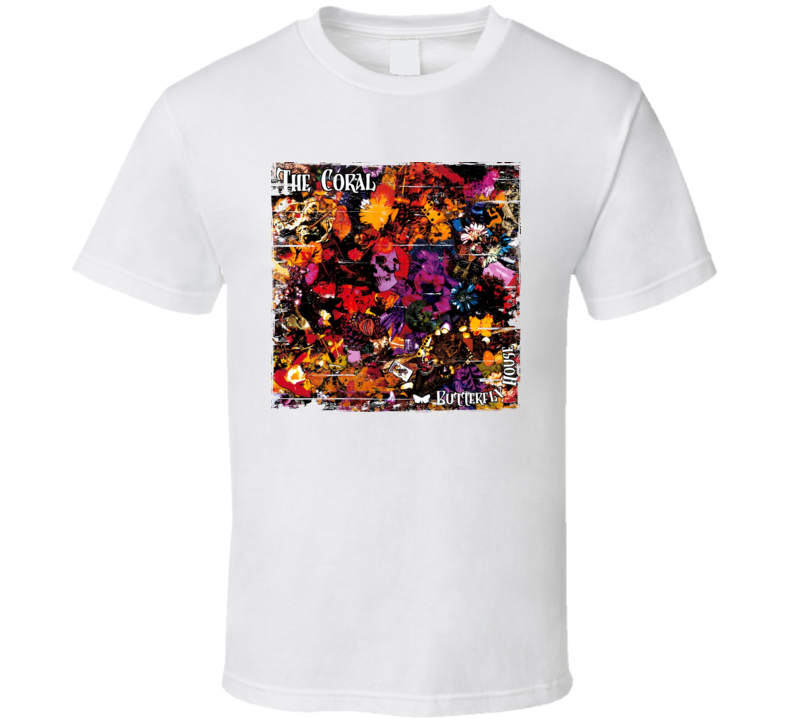 The Coral The Coral Album Cover Distressed Image T Shirt