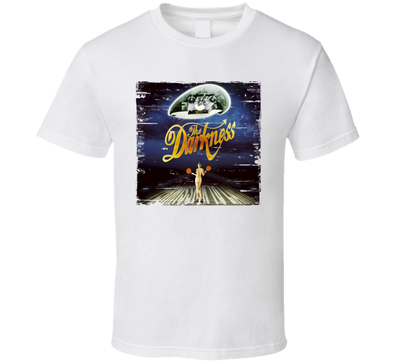 The Darkness Permission To Land Album Cover Distressed Image T Shirt