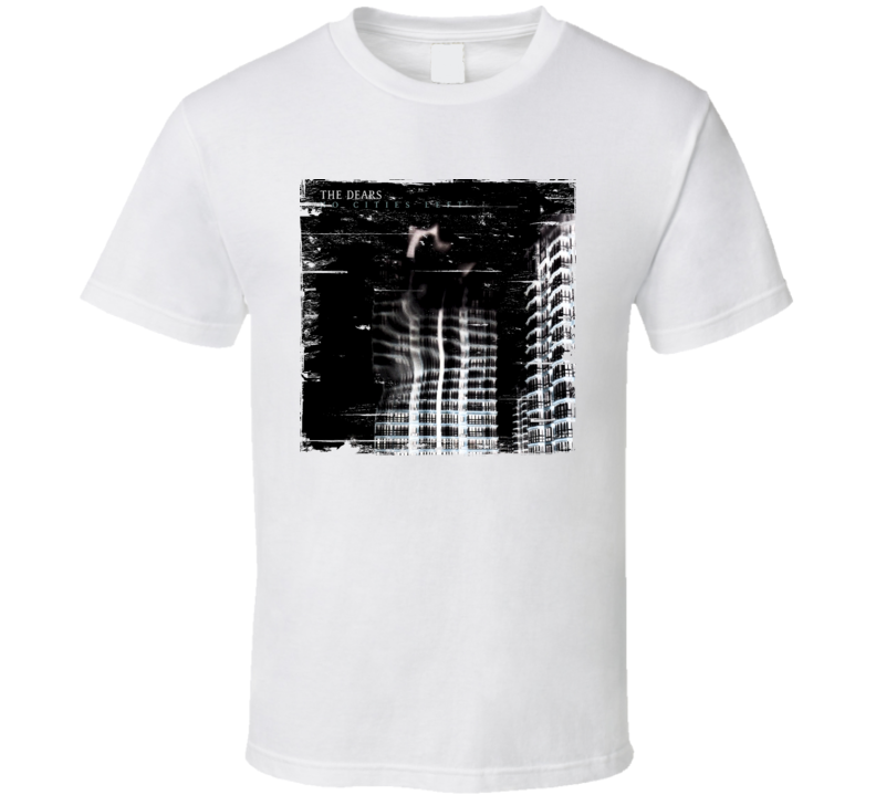 The Dears No Cities Left Album Cover Distressed Image T Shirt