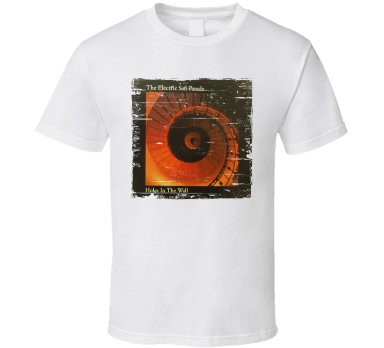 The Electric Soft Parade Holes In The Wall Album Cover Distressed Image T Shirt