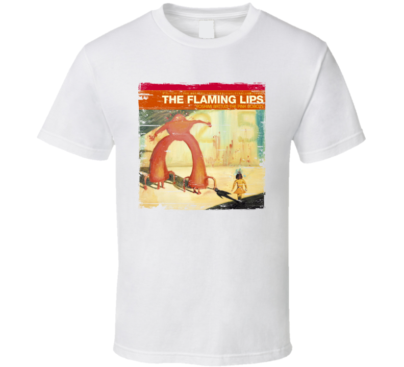 The Flaming Lips Yoshimi Battles The Pink Robots Album Cover Distressed Image T Shirt