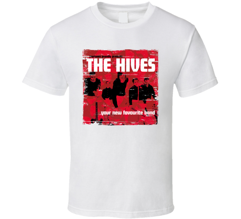 The Hives Your Favourite New Band Album Cover Distressed Image T Shirt