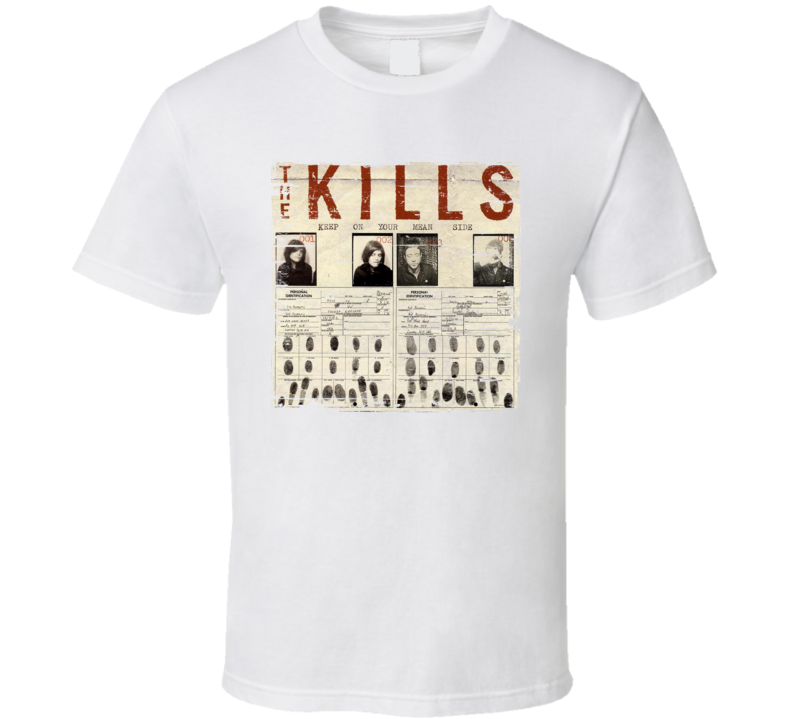 The Kills Keep On Your Mean Side Album Cover Distressed Image T Shirt
