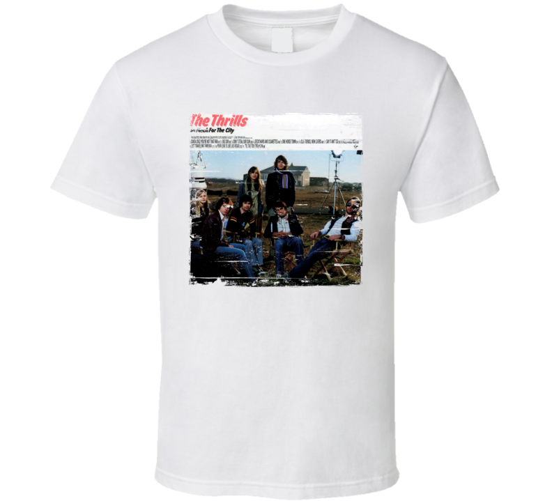 The Thrills So Much For The City Album Cover Distressed Image T Shirt