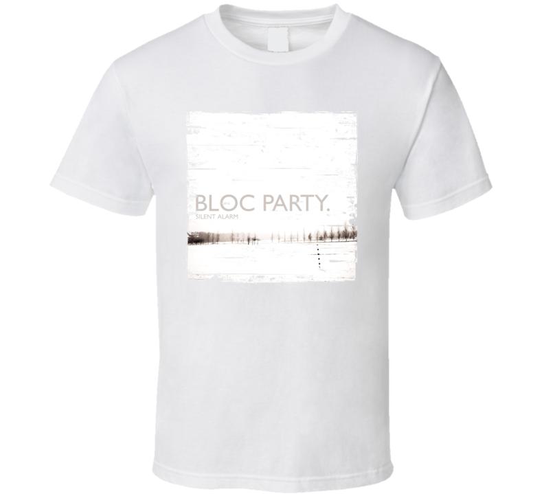 Bloc Party Silent Alarm Album Cover Distressed Image T Shirt
