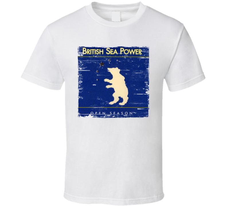 British Sea Power Open Season Album Cover Distressed Image T Shirt