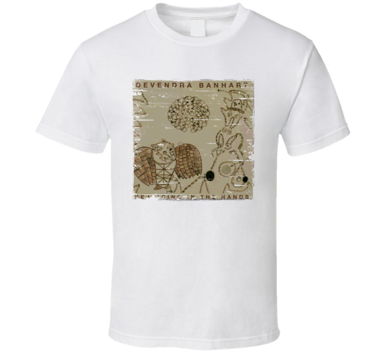 Devendra Banheart Rejoicing In The Hands Album Cover Distressed Image T Shirt