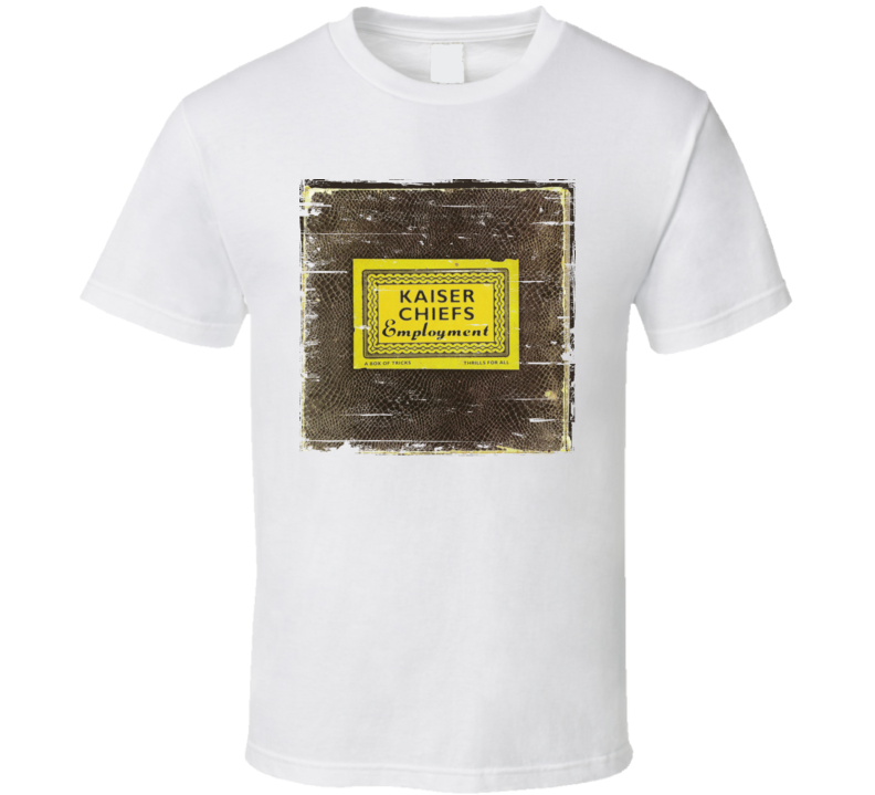 Kaiser Chiefs Employment Album Cover Distressed Image T Shirt