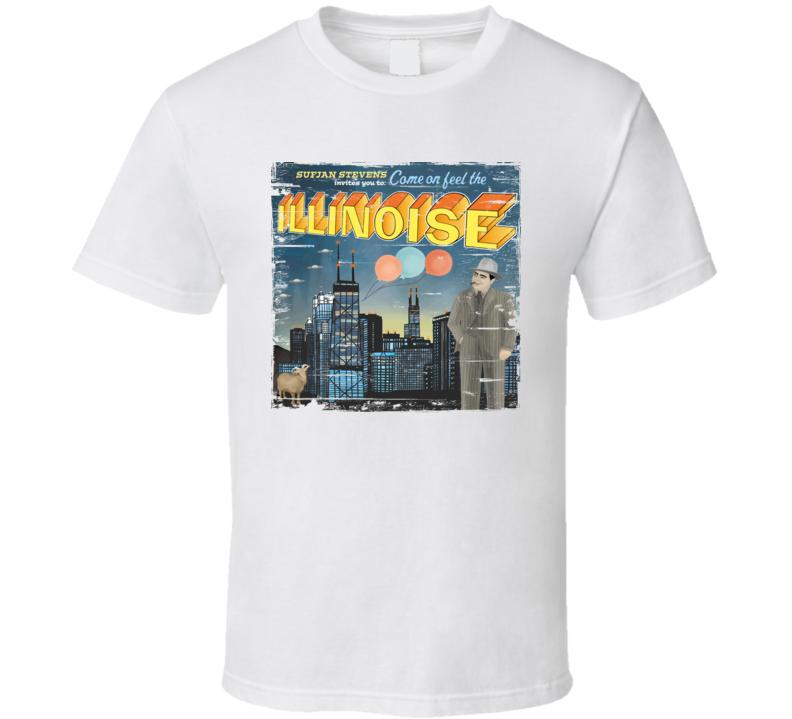 Sufjan Stevens Illinoise Album Cover Distressed Image T Shirt