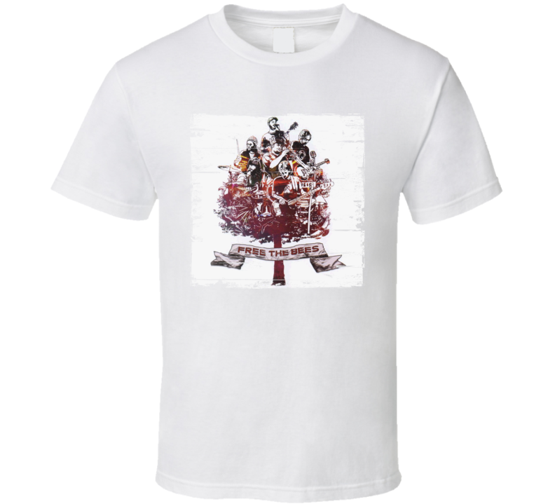 The Bees Free The Bees Album Cover Distressed Image T Shirt