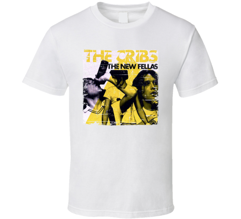 The Cribs The New Fellas Album Cover Distressed Image T Shirt