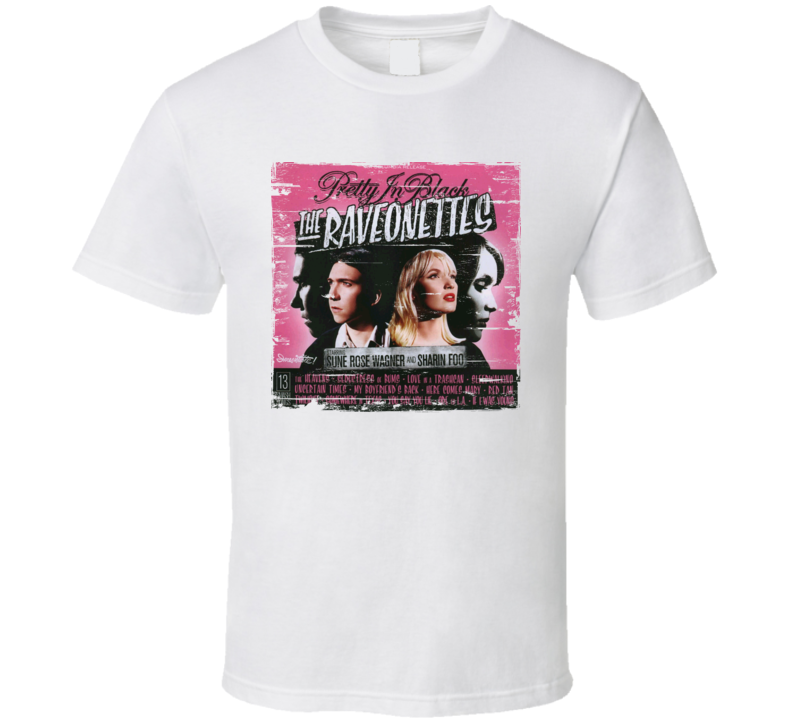 The Ravenettes Pretty In Black Album Cover Distressed Image T Shirt