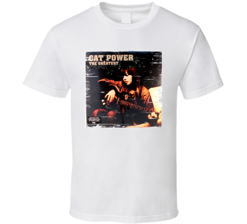Cat Power The Greatest Album Cover Distressed Image T Shirt