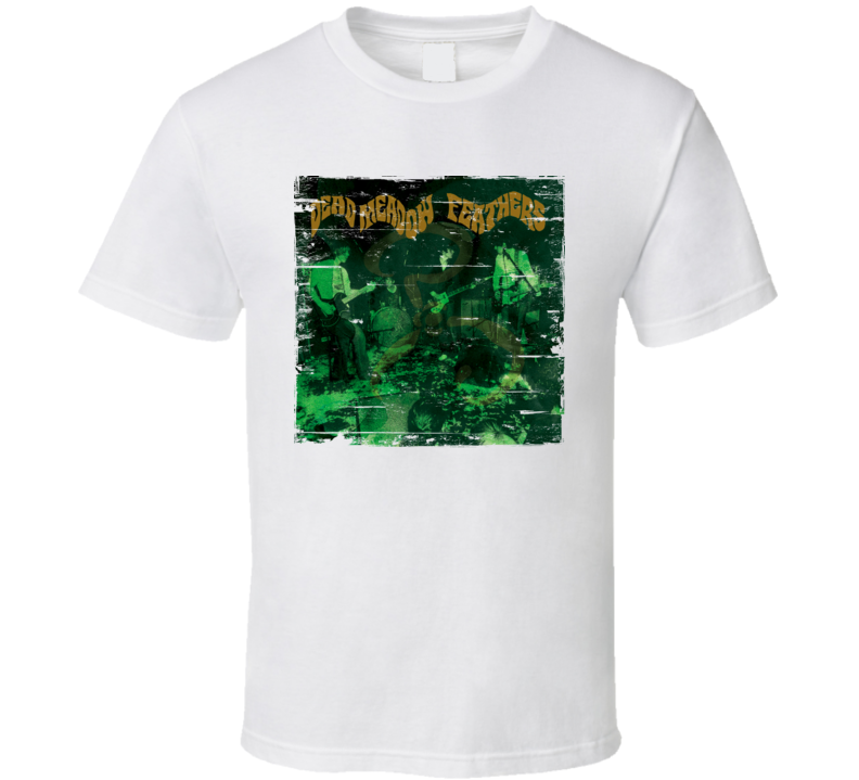 Dead Meadow Feathers Album Cover Distressed Image T Shirt