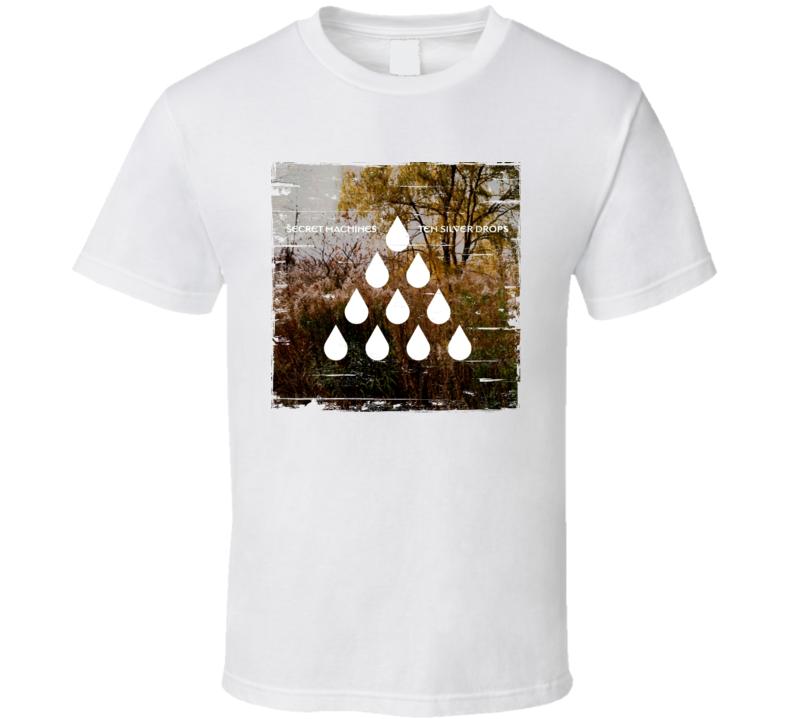 Secret Machines Ten Silver Drops Album Cover Distressed Image T Shirt