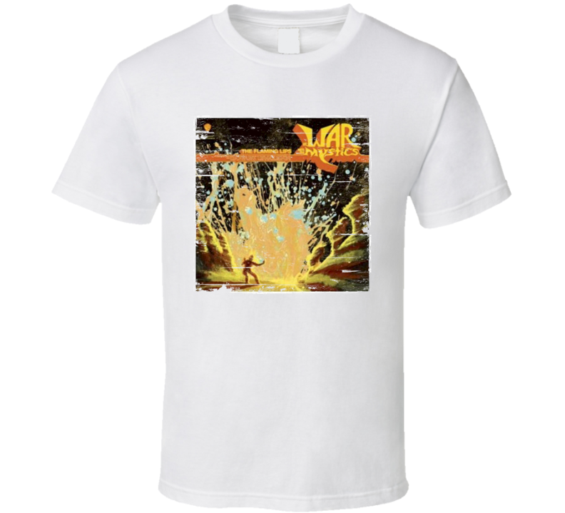 The Flaming Lips At War With The Mystics Album Cover Distressed Image T Shirt