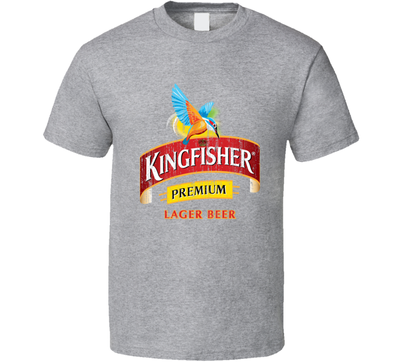 Kingfisher Beer Worn Image T Shirt
