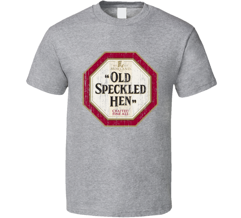 Old Speckled Hen Beer Worn Image T shirt