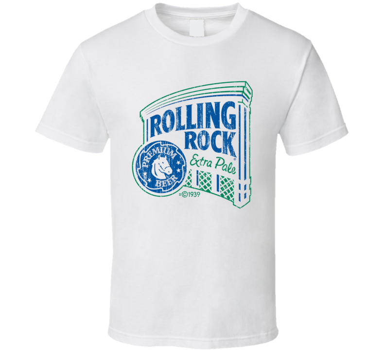 Rolling Rock Beer Worn Image T shirt