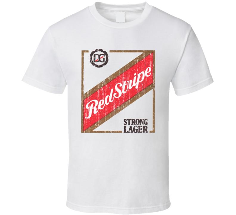 Red Stripe Lager Worn Image T Shirt