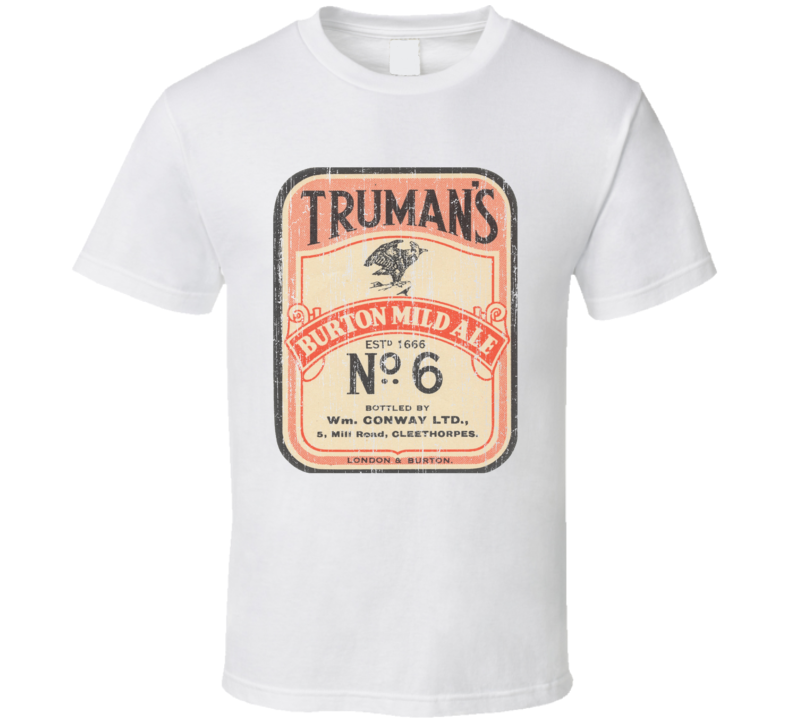 Truman's Beer Worn Image T Shirt