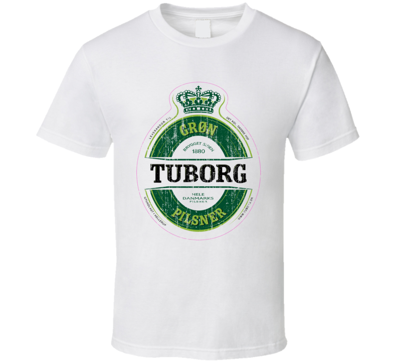 Tuborg Pilsener Beer Worn Image T Shirt