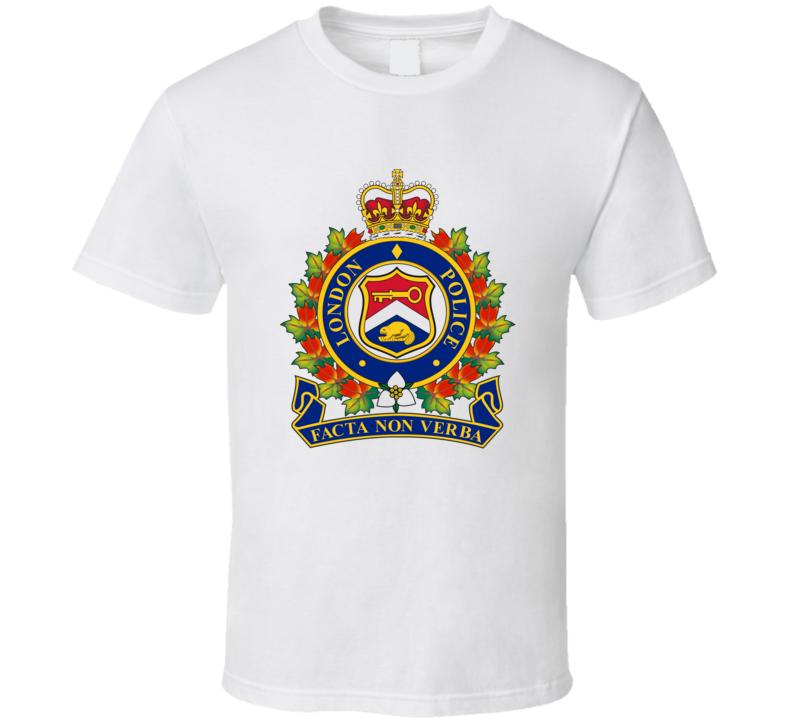 London England Police Emblem T Shirt
