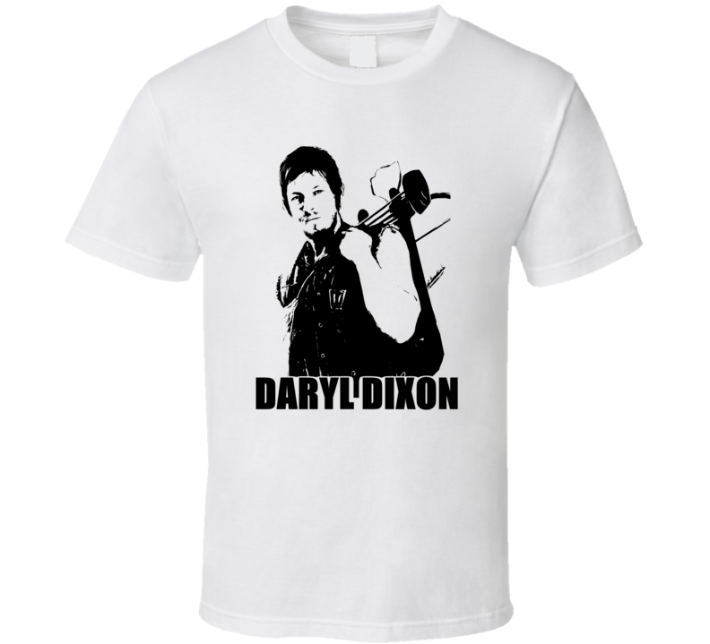The Walking Dead Daryl Dixon Black and White T Shirt