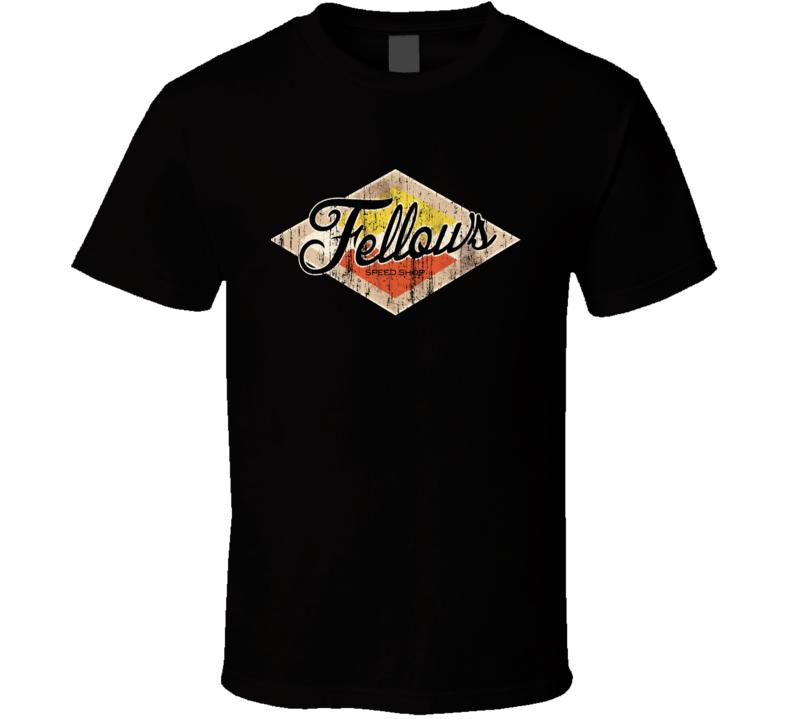 Fellows Speed Shop Hot Rod Worn Image T Shirt