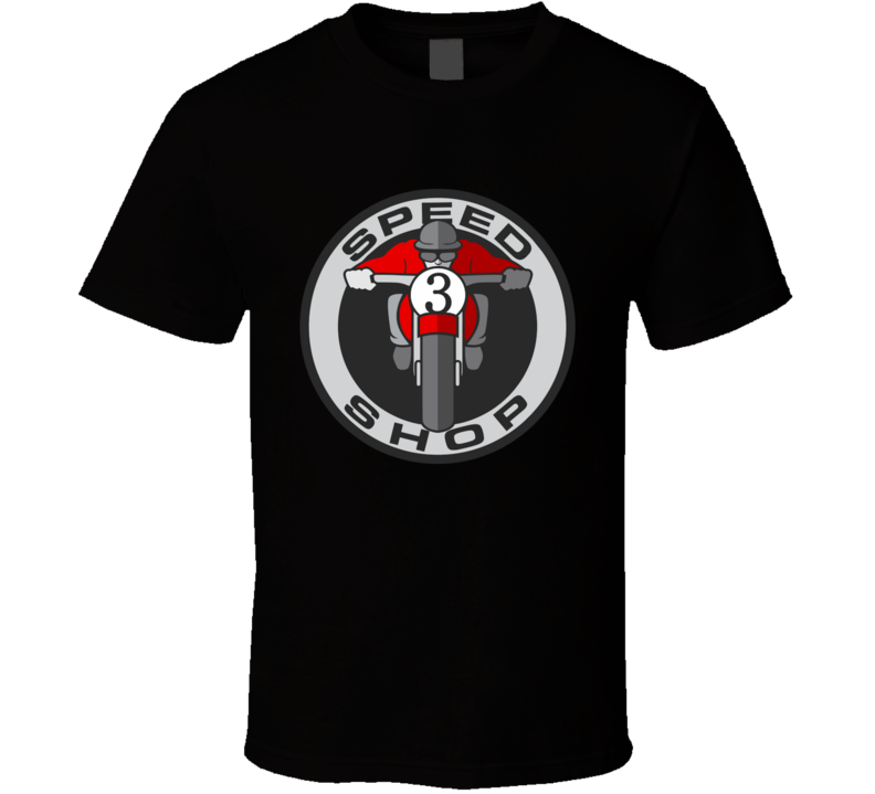 Motorcycle Speed Shop T Shirt
