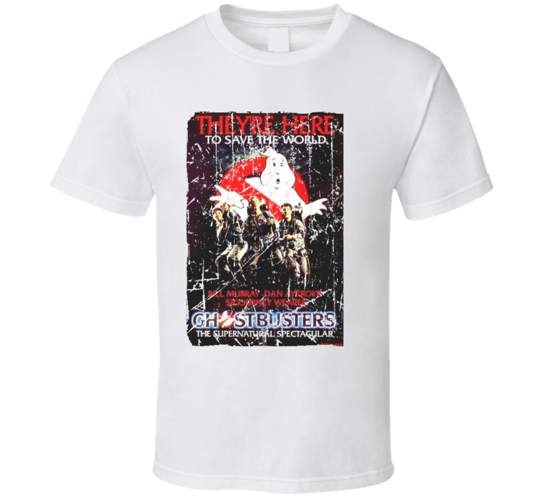 Ghostbusters Movie Poster Retro Aged Look T Shirt