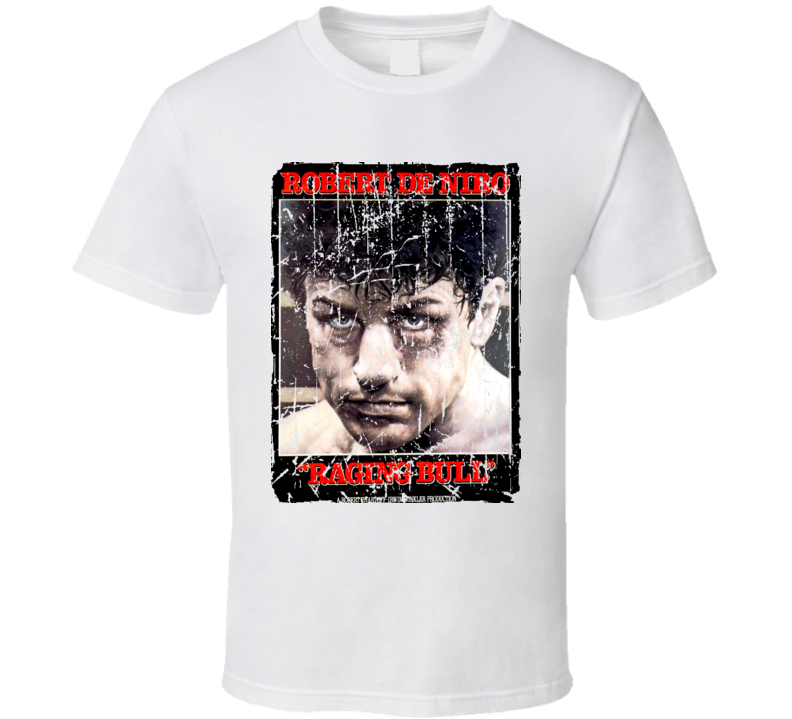 Raging Bull Movie Poster Retro Aged Look T Shirt