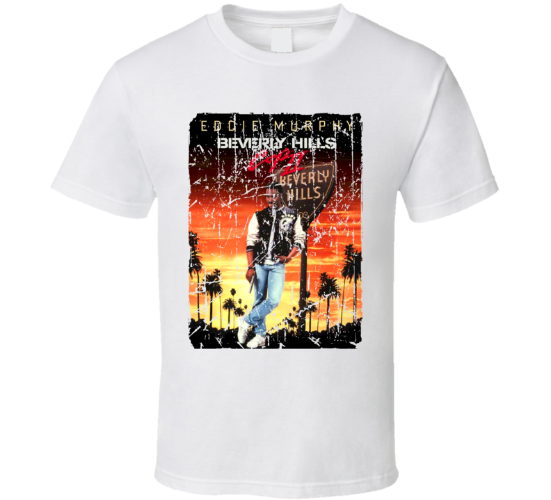Beverly Hills Cop Movie Poster Retro Aged Look T Shirt