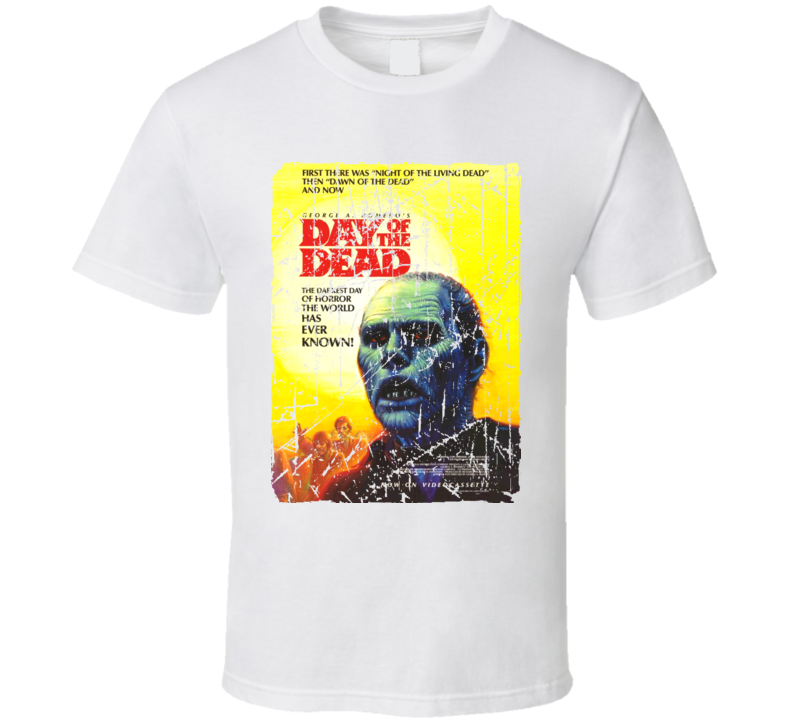 Day Of The Dead Movie Poster Retro Aged Look T Shirt