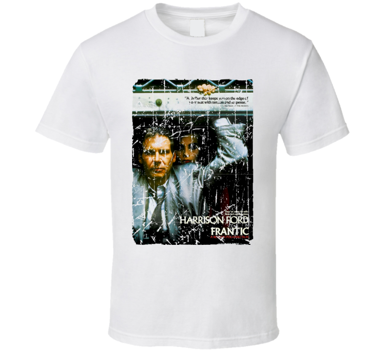 Frantic Movie Poster Retro Aged Look T Shirt