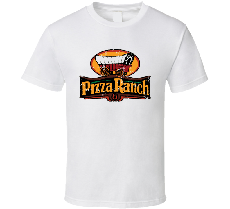 Pizza Ranch Fast Food Restaurant Distressed Look T Shirt