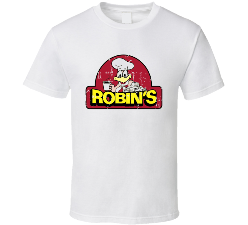 Robins Donuts Fast Food Restaurant Distressed Look T Shirt