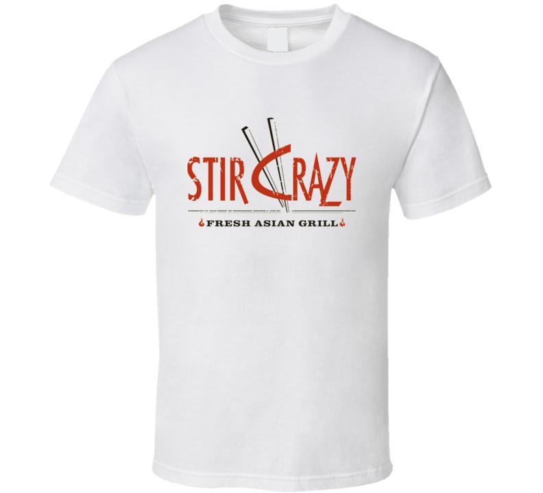 Stir Crazy Fast Food Restaurant Distressed Look T Shirt