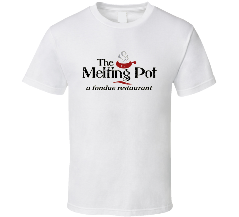 The Melting Pot Fast Food Restaurant Distressed Look T Shirt