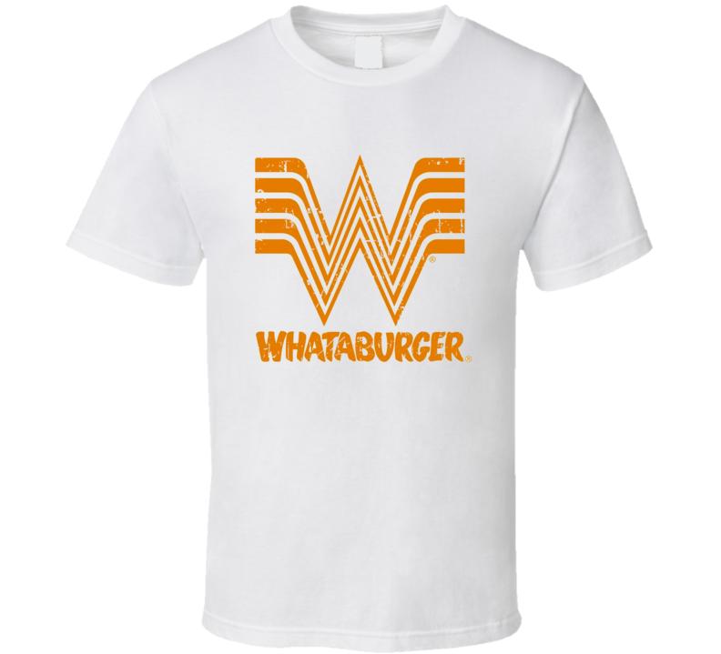 Whataburger Fast Food Restaurant Distressed Look T Shirt