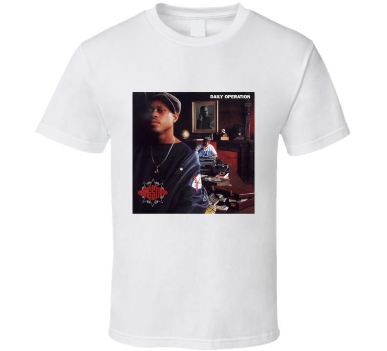 Gang Starr Daily Operation Album Tee T Shirt