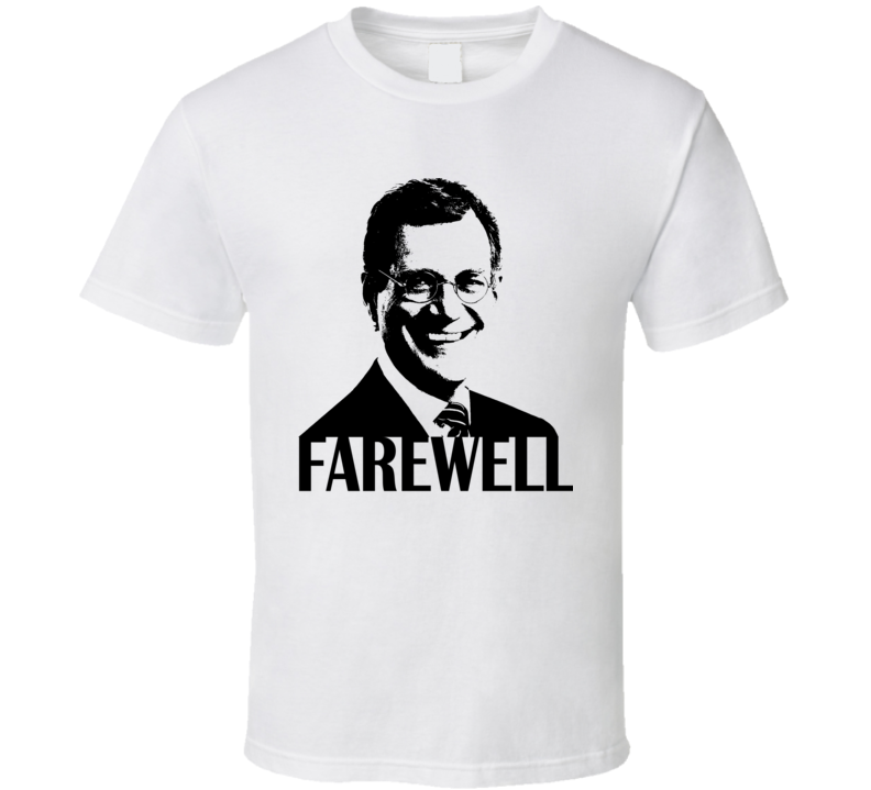 David Letterman Retirement Farewell T Shirt