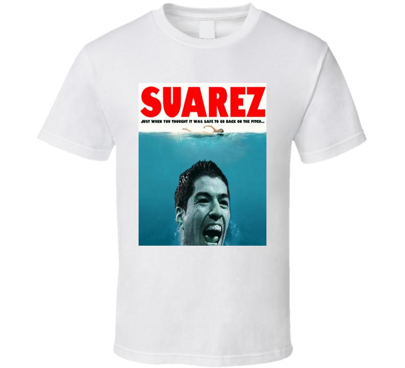 Luis Suarez Bite Funny World Cup Jaws T Shirt