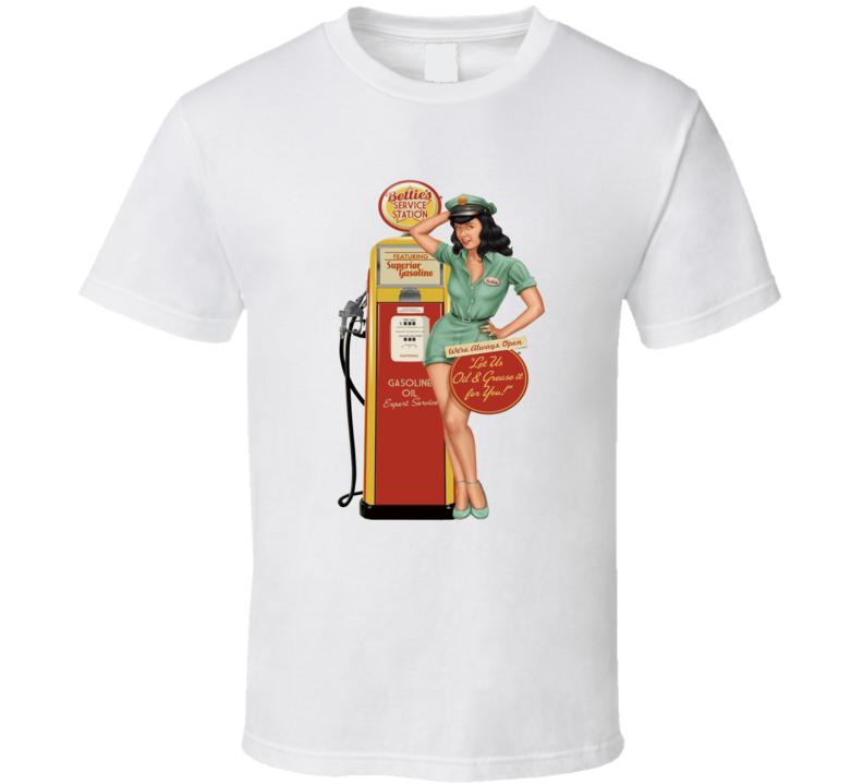 Betty's Garage Vintage hot rod tee T Shirt