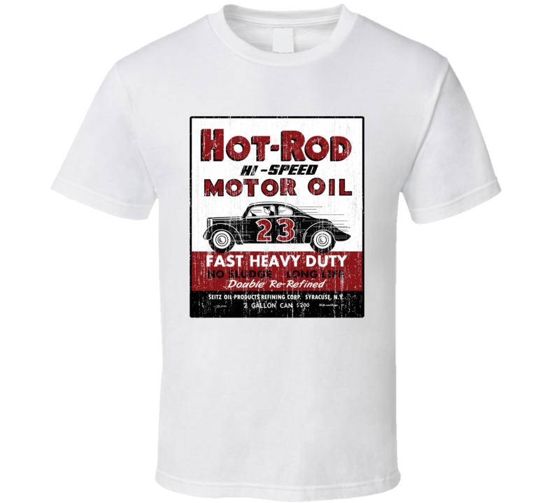Vintage Hot Rod Motor Oil Garage T Shirt